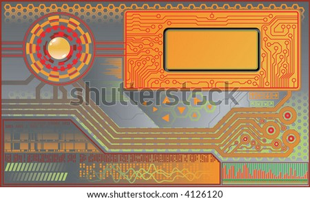 tech/digital/abstract background - stock vector