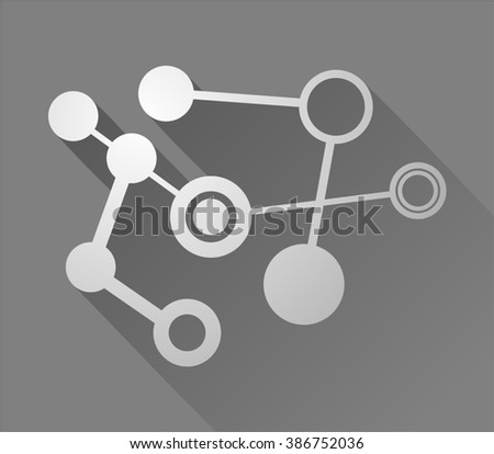tech figure symbol - stock vector