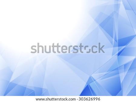 Tech polygonal blue white abstract background. Vector design - stock vector