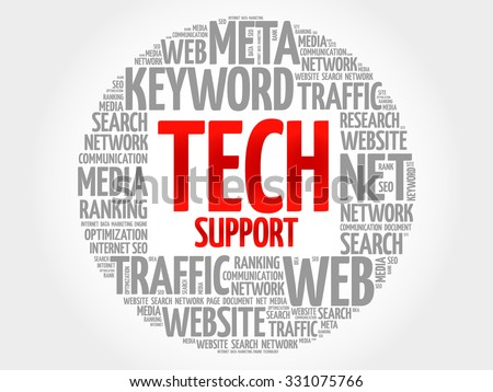Tech Support word cloud, business concept - stock vector