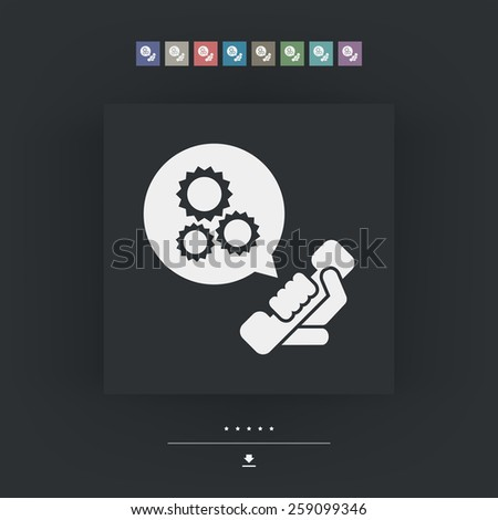 Technical assistance icon - stock vector