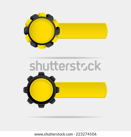Technical banner - stock vector