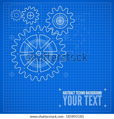 Technical blueprint template illustration on blue stock vector hd technical blueprint template illustration on blue vector background malvernweather Image collections