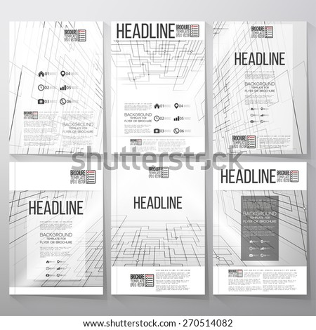 Technical construction with connected lines and dots.  Brochure, flyer or report for business, templates vector - stock vector
