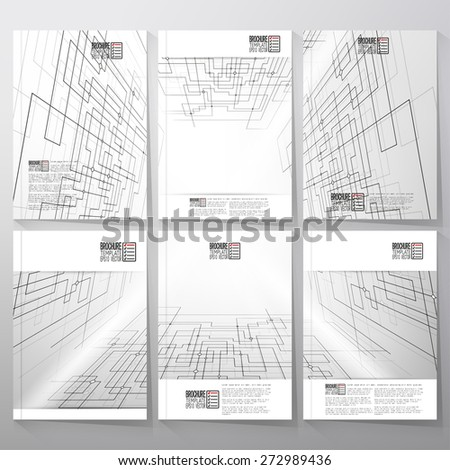 Technical construction with connected lines and dots.  Brochure, flyer or report for business, templates vector. - stock vector