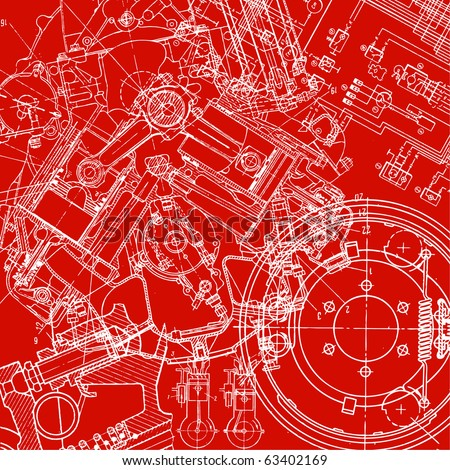 technical drawing - stock vector
