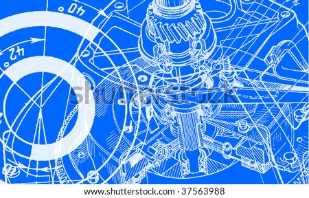 technical drawing background 1 - stock vector