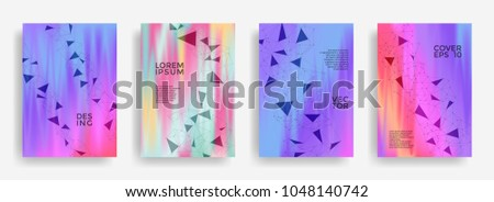 technical report templates set global network stock vector