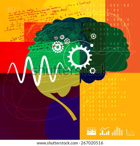 Technical Research Abstract - Illustration - stock vector