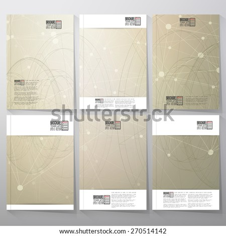 Technical retro background. Brochure, flyer or booklet for business, template vector - stock vector
