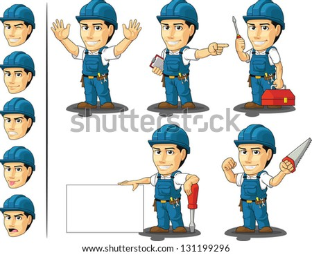 Technician or Repairman Mascot 2 - stock vector