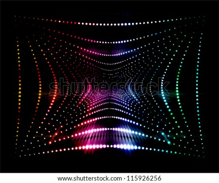 techno concept abstract background - stock vector
