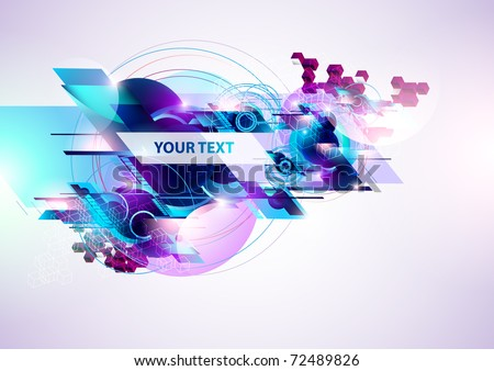 Technological background. - stock vector