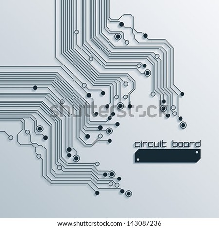 technology abstract background design - vector