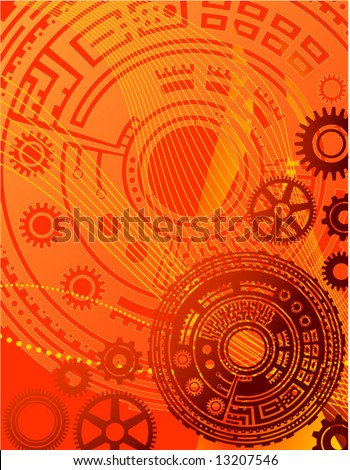 technology abstract design - stock vector