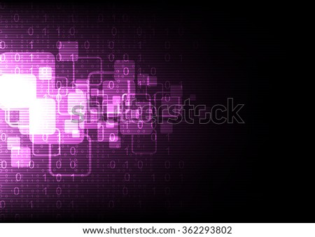 technology abstract digital computer background, vector illustration - stock vector