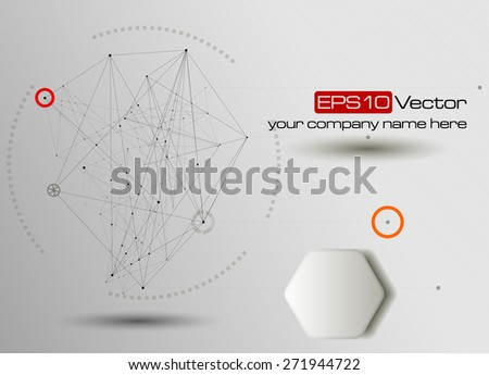 Technology and communication background. Vector illustration - stock vector
