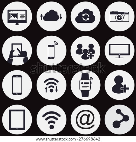 Technology and communication icon - stock vector