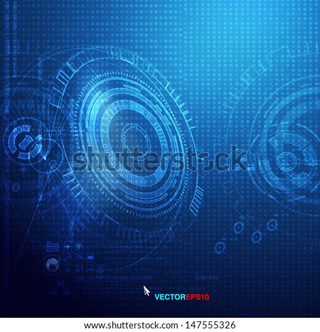 Technology background, Vector eps10 - stock vector