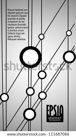 Technology background. Vector illustration. Eps 10. - stock vector