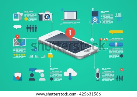 technology background, vector infographic - stock vector
