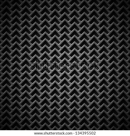 Technology background with seamless black metal (stainless steel, titan, chrome) texture for internet sites, web user interfaces (UI), applications (apps) and business presentations. Vector Pattern. - stock vector