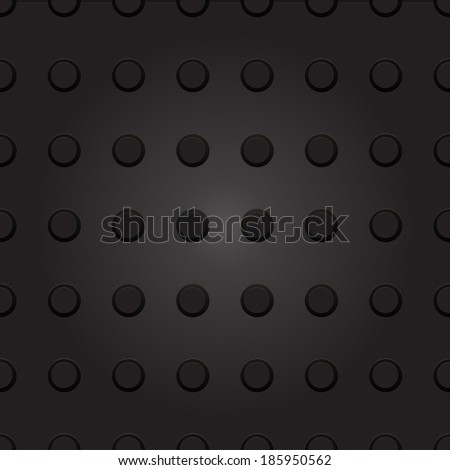 Technology background with seamless circle plastic dot. texture for internet sites, web user interfaces and applications. Vector Pattern