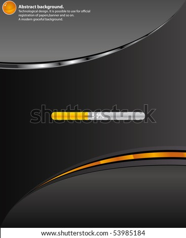 Technology  Black background.Vector - stock vector