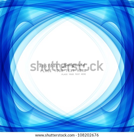 technology bright blue swirl colorful wave vector - stock vector