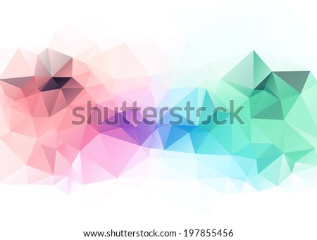 Technology concept abstract polygonal background - stock vector