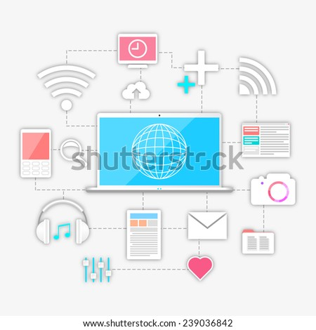 Technology connection concept - stock vector