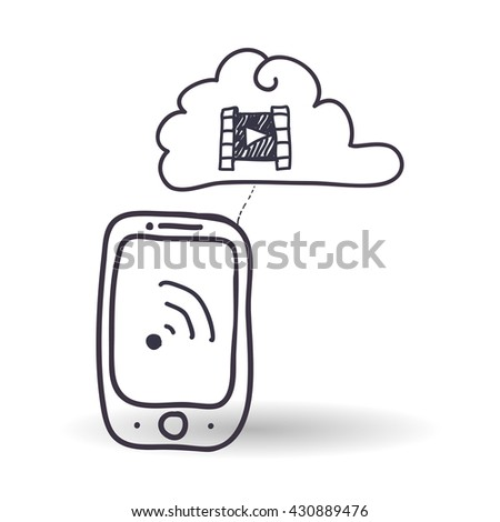 Technology design. sketch icon. Isolated illustration , vector
