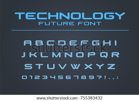 Technology Font Geometric Sport Futuristic Future Alphabet Cool Letters And Numbers