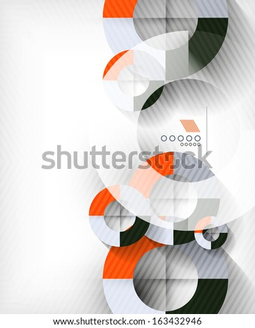 Technology geometric shape abstract background - stock vector