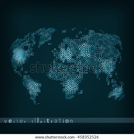 Technology image of globe. The concept vector illustration eps10 - stock vector