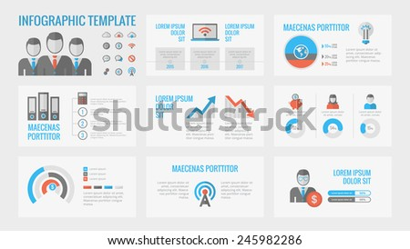 Technology Infographic Elements - stock vector