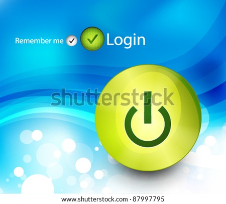 Technology power button background vector - stock vector