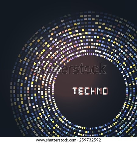 Technology round for your logo template. Can be used for business presentation. - stock vector