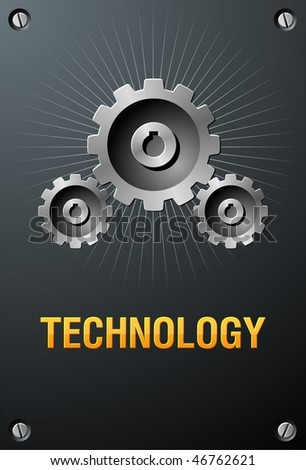 Technology sign - stock vector