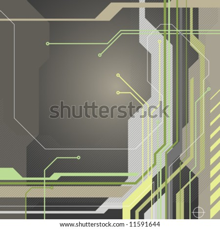 technology style abstract background with electrical connection