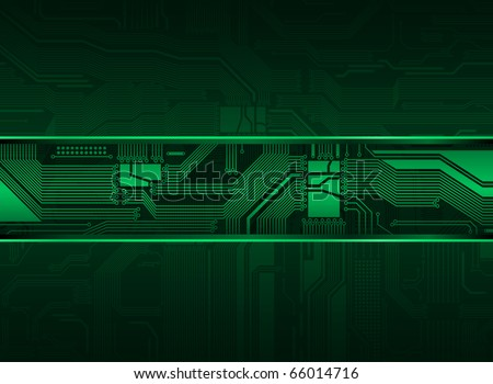 technology style vector background - stock vector