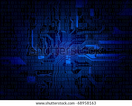technology theme background with detailed circuit pattern. Eps 10 vector - stock vector