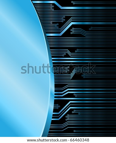 technology theme vector background - stock vector