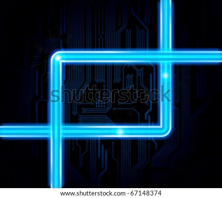 Technology theme vector background. Eps10 - stock vector