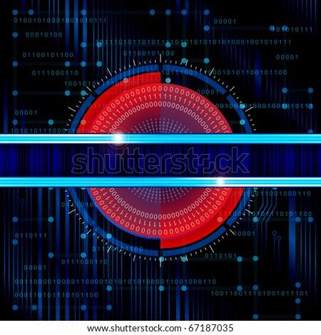 Technology theme vector banner. Eps10 - stock vector