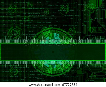 Technology theme vector frames. Eps10 - stock vector
