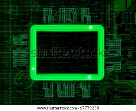 Technology theme vector frames with space for text. Eps10 - stock vector