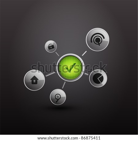 Technology vector background - stock vector