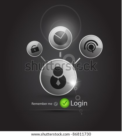 Technology vector login background - stock vector