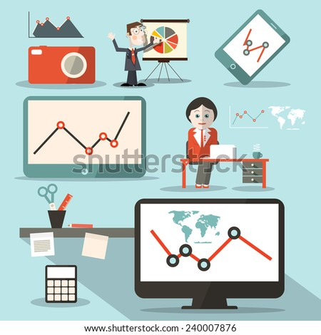 Technology Vector Social Media Objects - stock vector